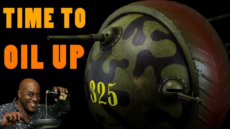 Washes Oil Paints - Soviet Ball Tank Sharotank (Miniart 135 Scale Model Weathering Tutorial)