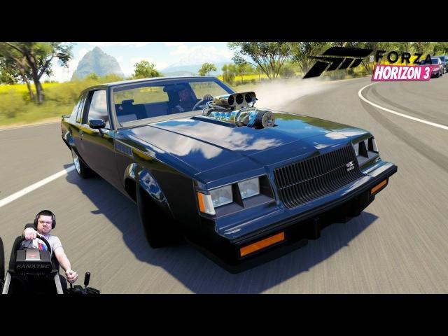 1000-сильный испепелитель резины Buick Regal GNX :) - Forza Horizon 3 на руле Fanatec CSL Elite
