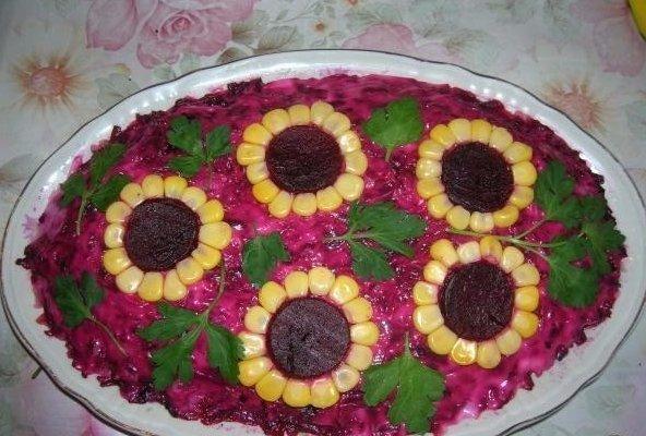 Красивое оформлшение салатов фото