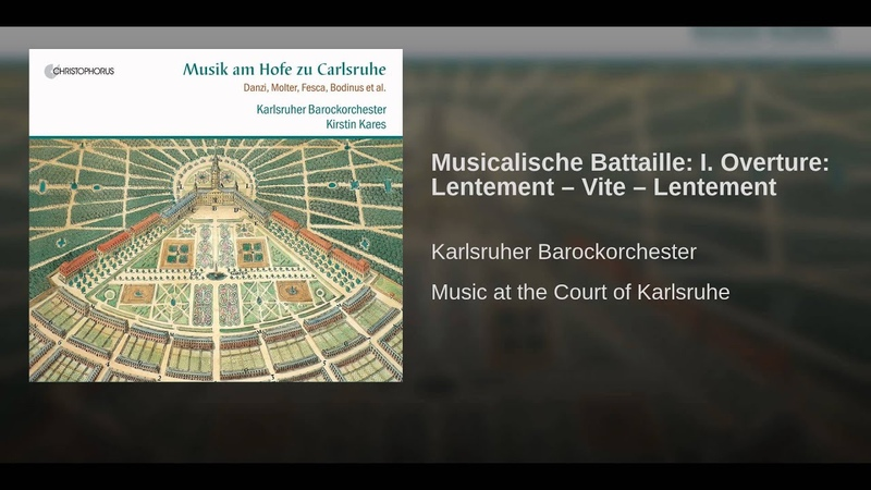 Musicalische Battaille I. Overture Lentement – Vite – Lentement