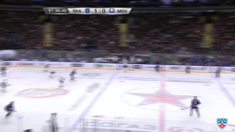Моменты из матчей КХЛ сезона 14/15 • Гол. 2:0. Джимми Эрикссон (СКА) удвоил преимущество питерской команды 01.02