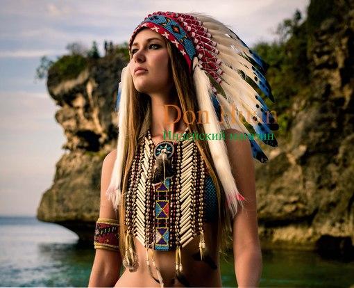 Головной убор индейцев женский