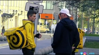 Edward Bil раздает деньги ребятам из Яндекс.Еда / Добрый гопник