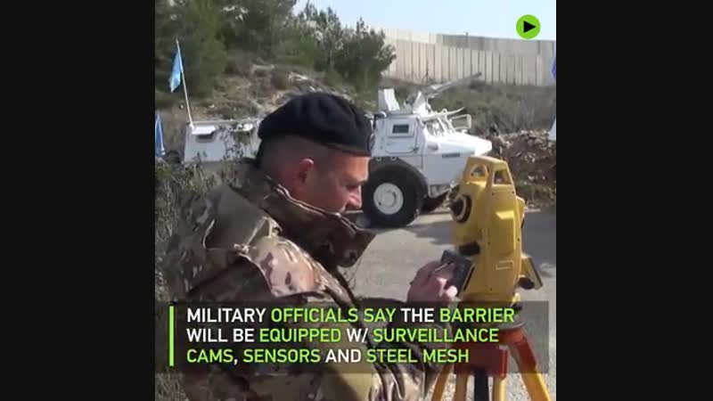 RT -- Israeli forces are continuing construction of a nine-meter-high (30-foot) wall along the northern border with Lebanon