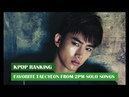 [Kpop Ranking] Favorite Taecyeon From 2PM Solo Songs | May 2017