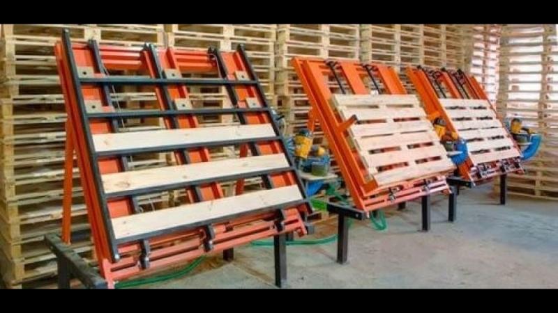 В цех требуются рабочие для сбора деревянных поддонов пневмоинструментом