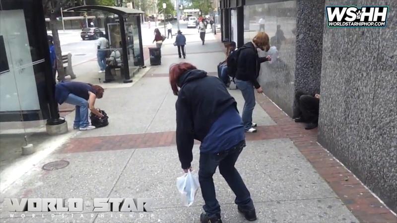 3 WOMEN SLUMPED ON A SIDEWALK AFTER USING HEROIN
