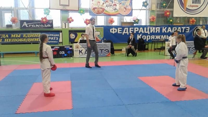 Коряжма Первенство области по каратэ. 14.04.218