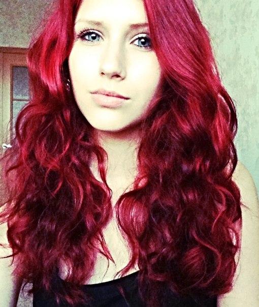 Фото волос цвет рубин