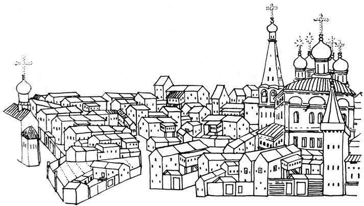 Суздаль. 1660-е гг. Схема
