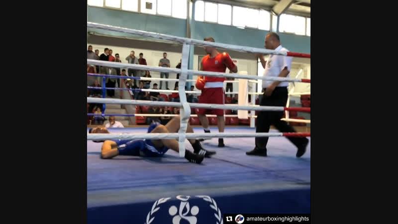 Хук от Турка 91кг Финал турнира в Анкаре октябрь 2018