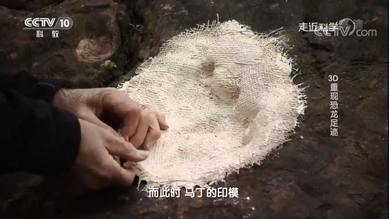 Следы динозавров в 3D 3D ЧунСянь КунЛун ЦзуЦзи в слоях Юрского Периода ЧжуЛоЦзи ДиЦэн в городе Ренхуай провинция Гуйчжо