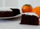 Шоколадный пирог с хурмой