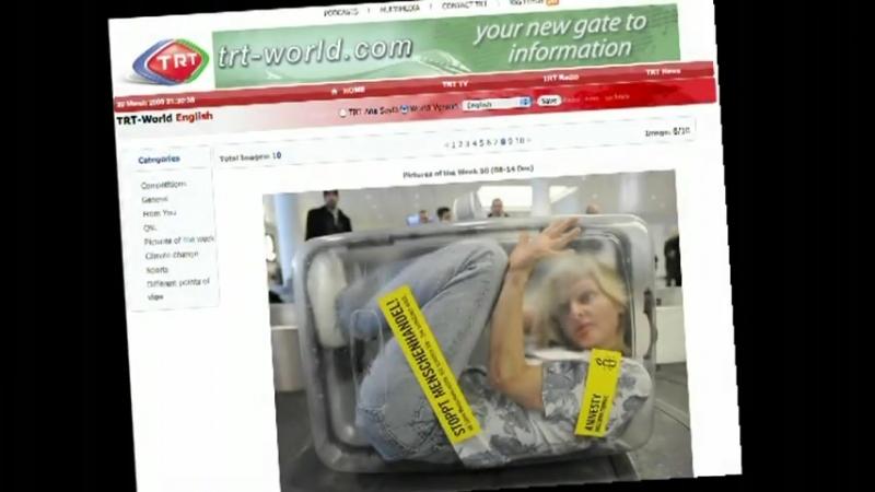 人肉行李箱 Amnesty promotion Woman in a suitcase