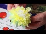 Как сделать красивые цветы из бумажных салфеток  своими руками