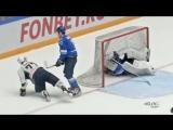 Дмитрий Юшкевич порезал коньком горло вратарю астанинской команды