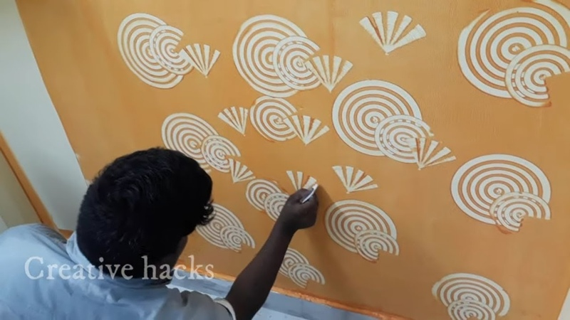 Creative Wall Painting Ideas and Techniques (telugu)