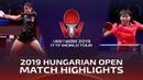 Chen Meng vs Zhu Yuling 2019 ITTF World Tour Hungarian Open Highlights Final