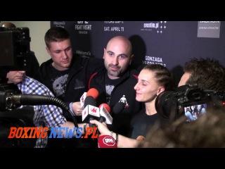 Aleksandra Albu after fight on UFC 64 Kakow (11.4.15)