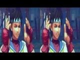 3D Sakura vs Dan - Super Street Fighters | VR/Cardboard/Active/Passive - SBS
