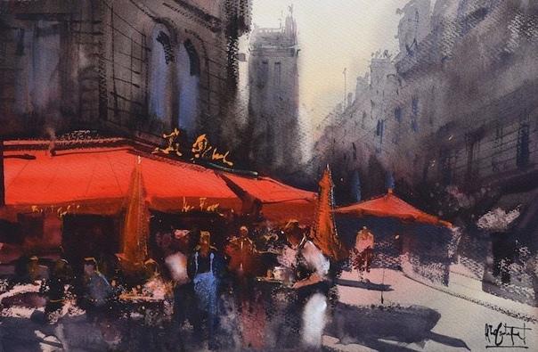 Художник Альваро Кастаньет путешествует по миру, чтобы запечатлеть динамичную энергию разных городов в выразительных акварельных картинах Он рисует на пленэре и чудесным образом передает суть и