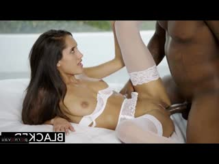 Chloe Amour [ In stockings,Чулки &  Big dick &  Mulattos / Cumshot in mouth, Beautiful lingerie, horsewoman, Shaved, Bride