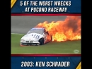 In anticipation of the long weekend at Pocono relive five of the worst wrecks in the history of Pocono Raceway