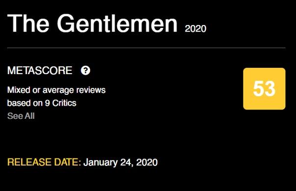 «Джентельмены» Гая Ричи получились вполне себе удобоваримыми