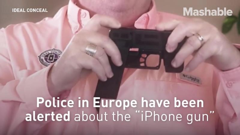 Пистолет - смартфон.