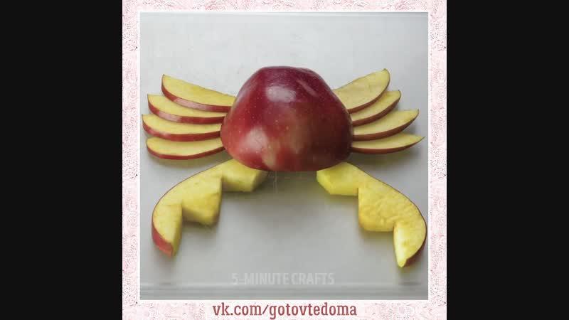 Как необычно оформить фрукты. Вкусно, сытно и очень просто. Как же аппетитно выглядит.