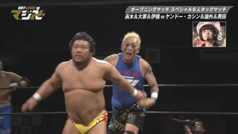 Sanshiro Takagi Ken Ohka Gota Ihashi vs Kendo KaShin NOSAWA Rongai Keisuke Okuda DDT Live Maji Manji 13