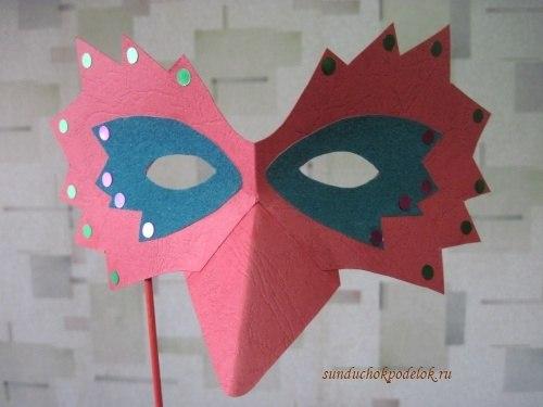 Как сделать руками карнавальную маску своими руками