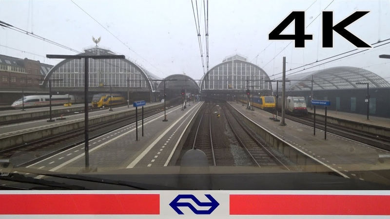 Foggy train ride4K CABVIEW HOLLAND Almere - Amsterdam ICM 31jan 2019