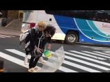 渋谷ZEAL LINKでのインストアイベントにご来場いただき誠に有難う御座いました - イベントの罰ゲームで海青が空をおぶって渋谷タワーレコードまで向かうという結果に - 今晩ロン