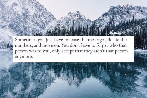— Иногда тебе просто нужно взять и стереть все сообщения, удалить номера, и жить...