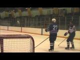 Прикол))Самый мощный бросок в истории хоккея