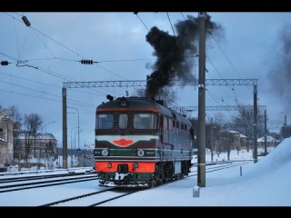 Запуск дизеля тепловоза ТЭП60 / Engine start TEP60 diesel locomotive