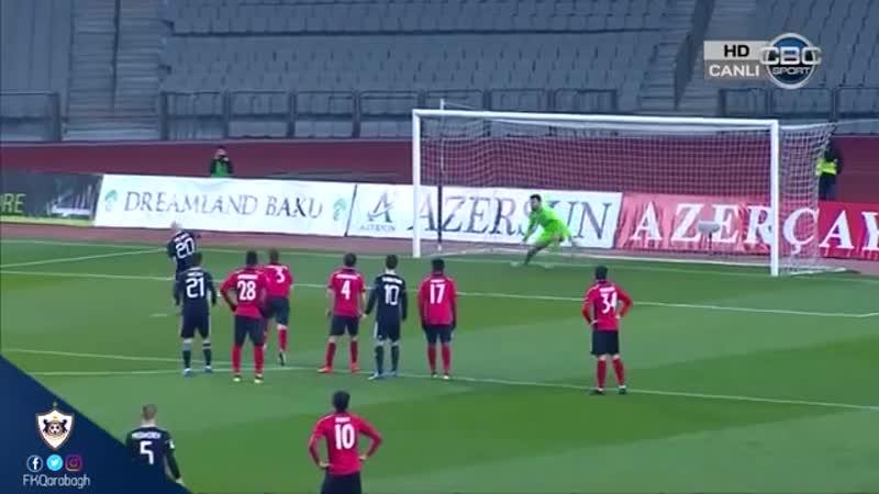 Almeyda 316 gündən sonra Qarabağ formasıyla fərqləndi