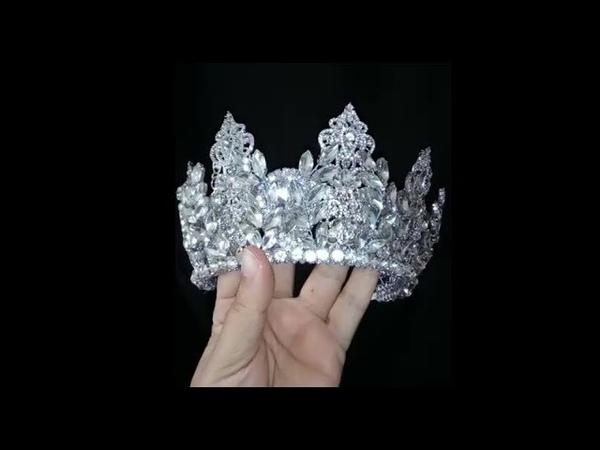 How to make wedding crystal crown - DIY