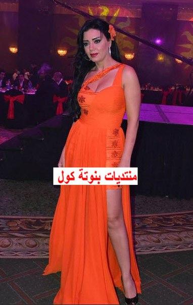 بالصور رانيا يوسف بفستان برتقالى
