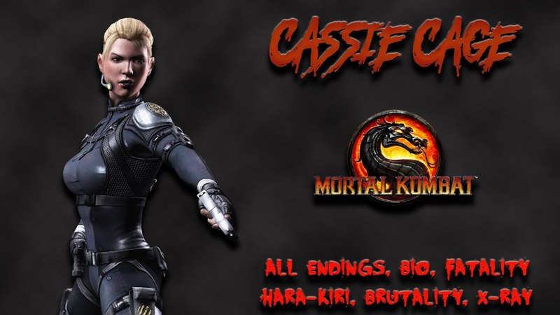 Mortal Kombat - All Fatality, Bio, Ending - Cassie Cage