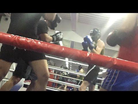 Бокс в GFG, вечерняя группа, спарринг.