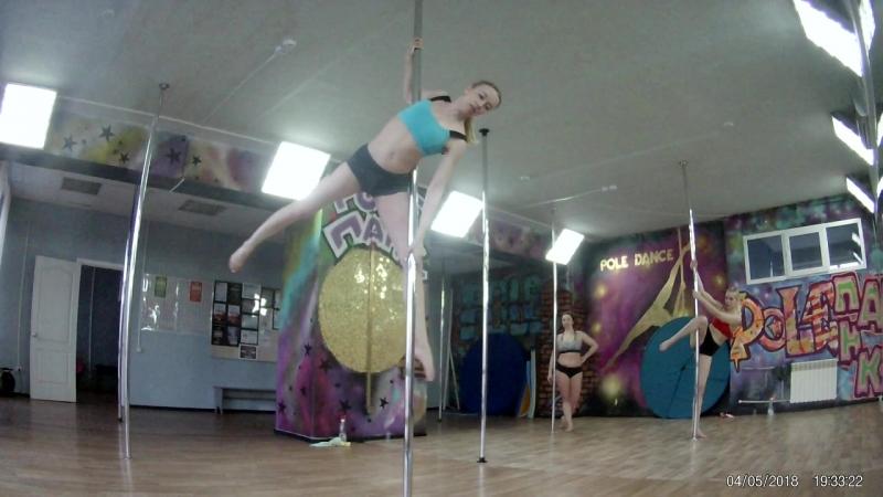 Pole PANK Dance studio /OMSK /ученица Ирина/Pole dance Омск