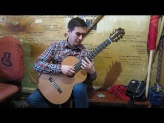 тест новой гитары. кедр и палисандр. Подмосковные вечера, фрагмент. Айдар Галиакбаров
