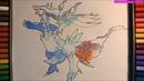 Cách vẽ pokemon rồng huyền thoại Reshiram-pokemon thế hệ 5