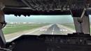 Take Off Santiago de Chile Boeing 747 400 Cockpit