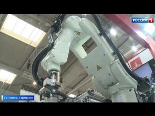 Выставка в Ганновере: московские компании привезли автобус-беспилотник и робота-выбраковщика