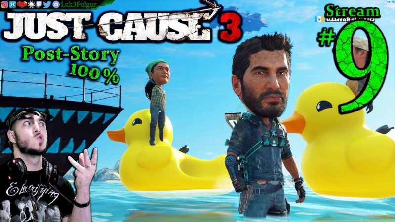 Just Cause 3 🚀100%'ing🌄PRO💣1st Time💥🔫All DLC💸PC💻Max✨ 9th Stream🎋