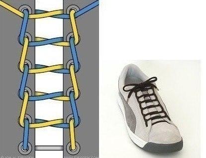 Как завязать шнурки красиво