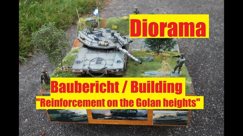 Diorama Bau building Reinforcement on the Golan heights IDF Merkava MK IV Hobby Boss 1 35